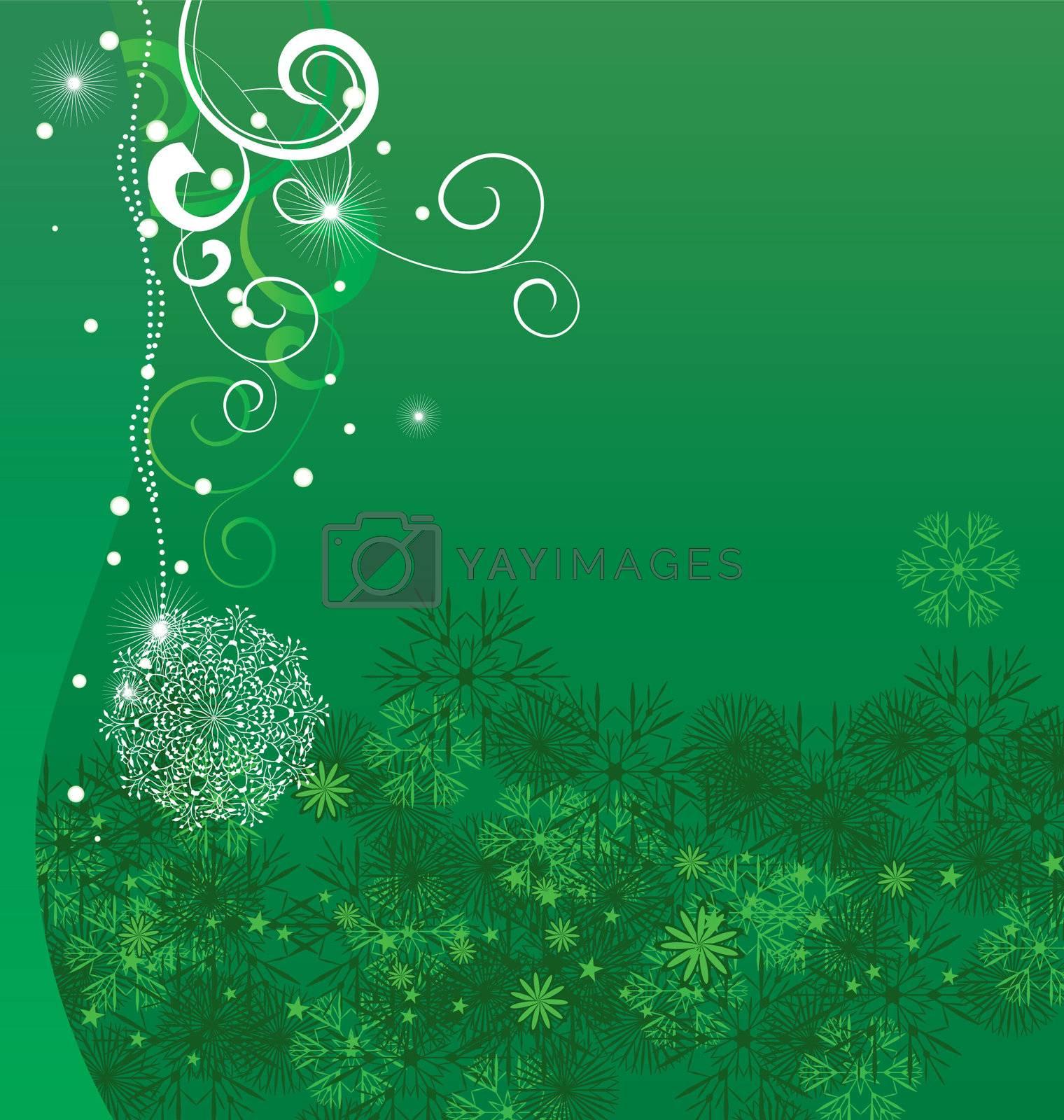 christmas vector snowflake card illustration