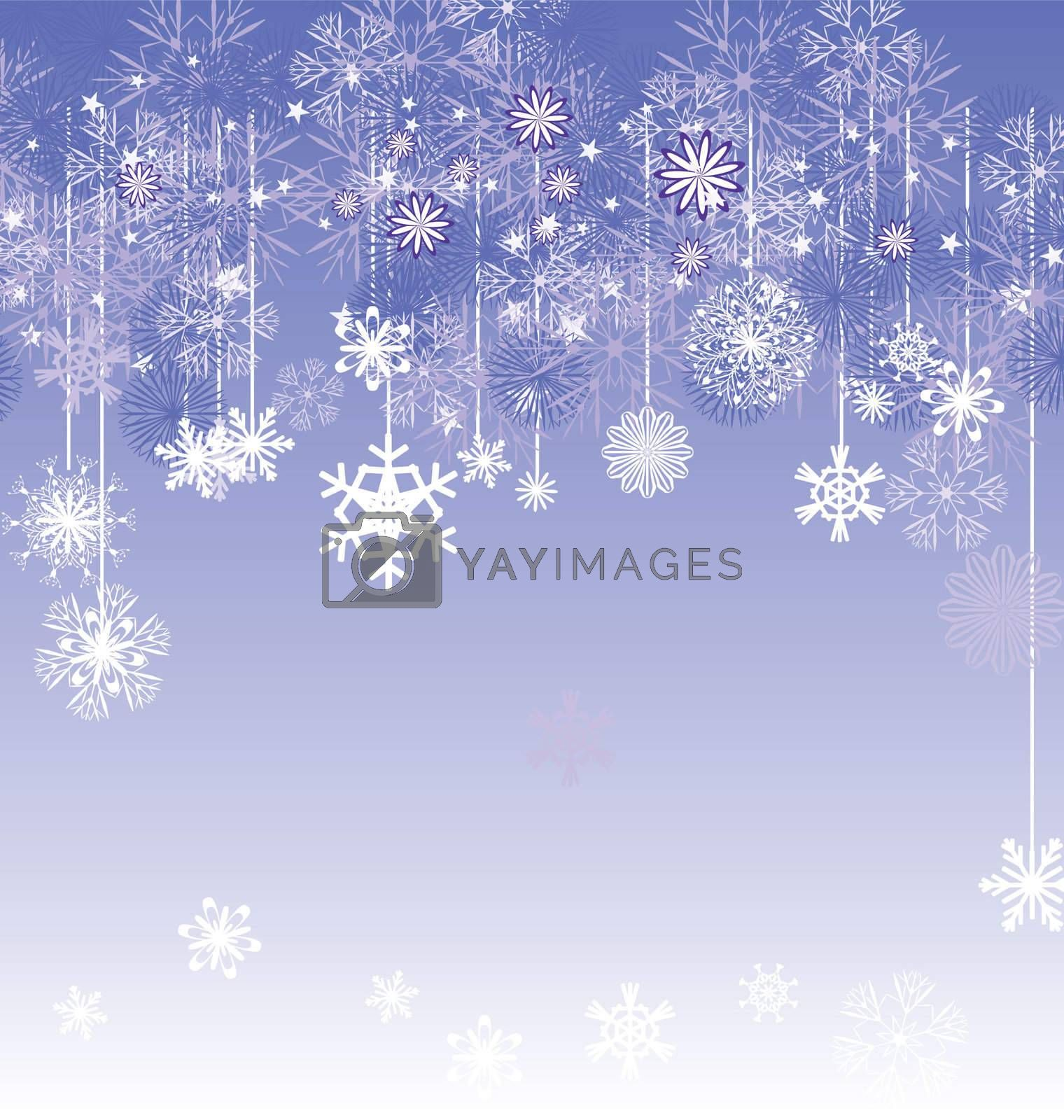 christmas vector snowflake card illustration