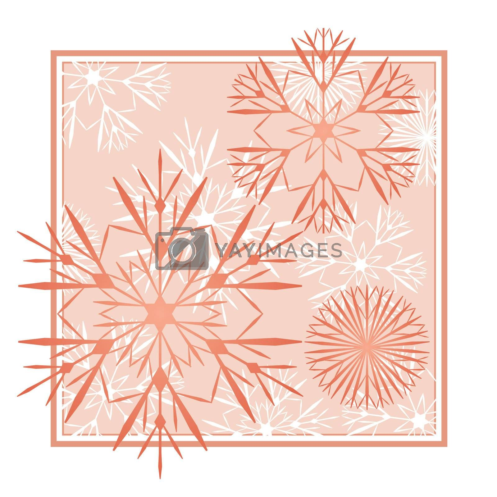 snowflakes abstract vector red  backdrop