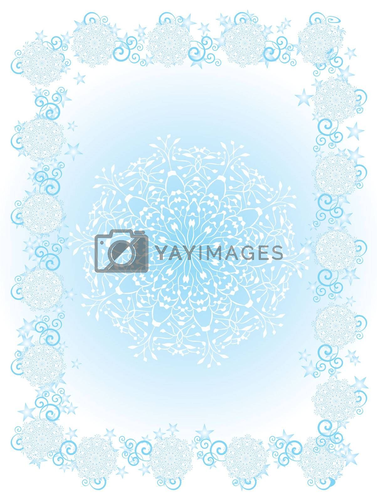 vector snowflakes frame