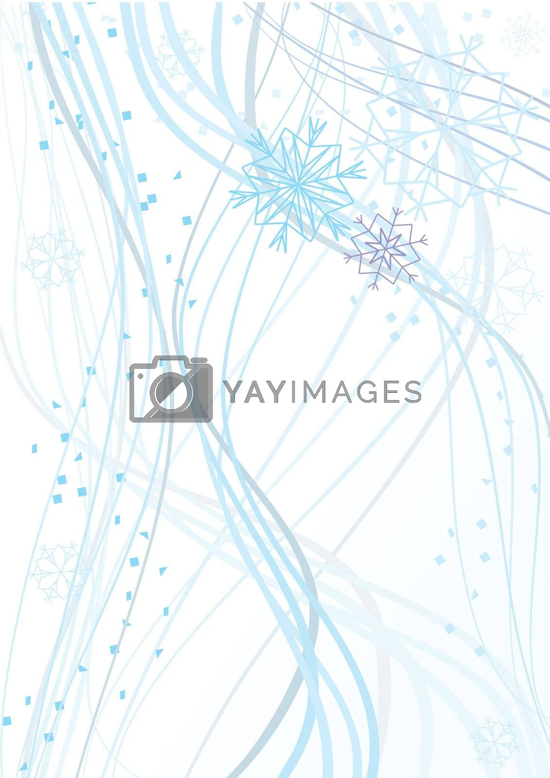 snowflakes abstract background