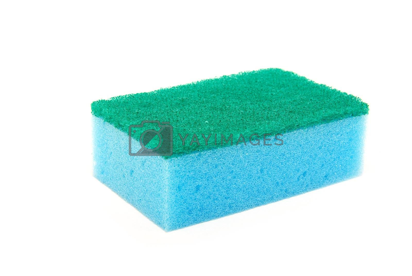 kitchen sponges isolated on a white background