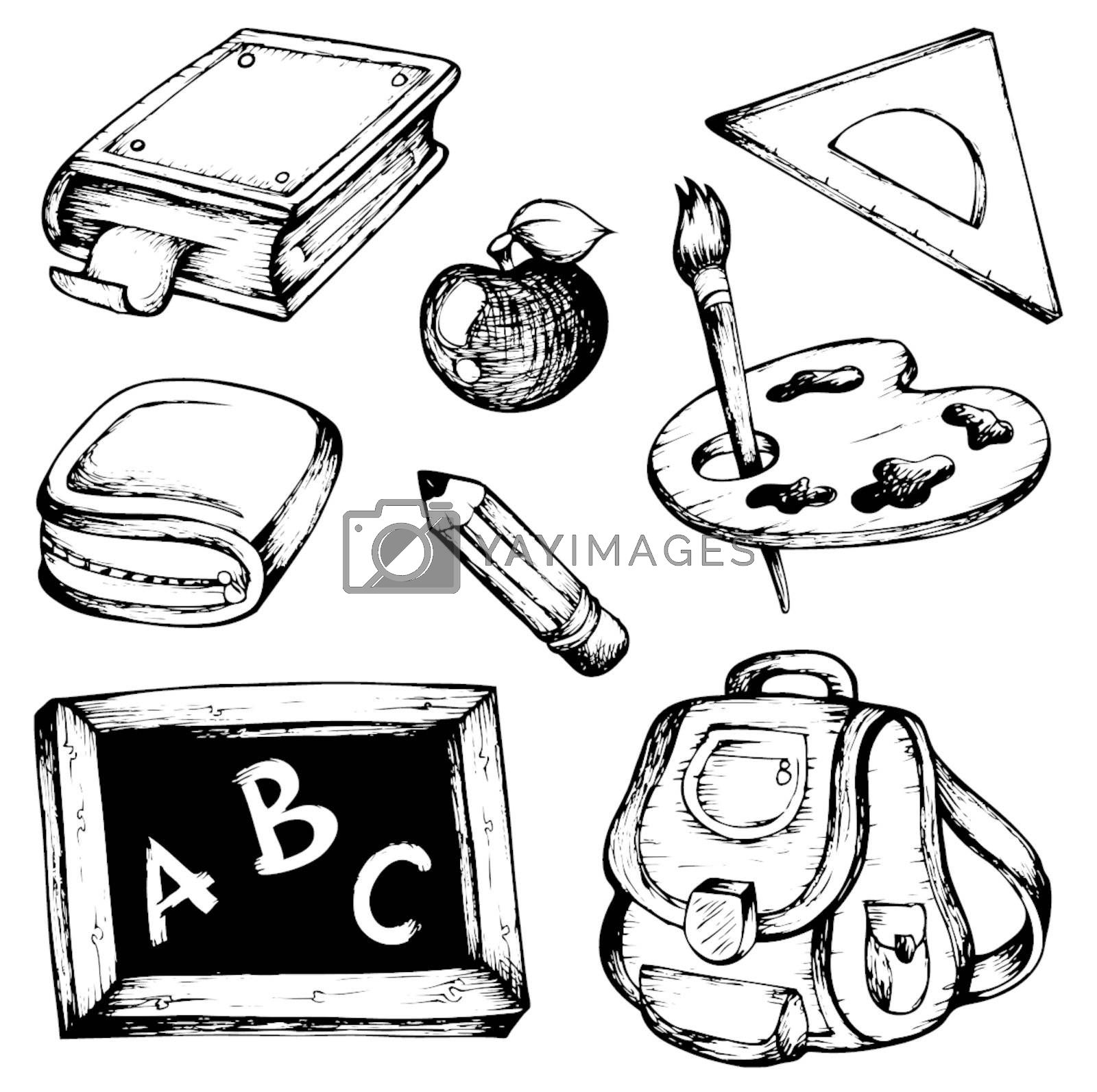 School drawings collection 1 - vector illustration.