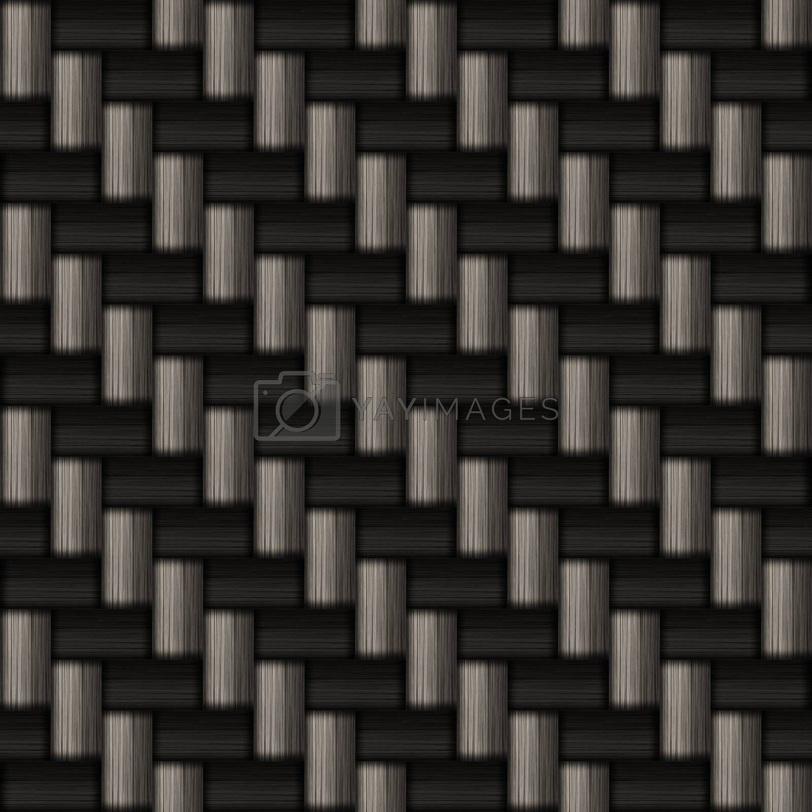 """A diagonally woven carbon fiber background texture - a great art element for that """"high-tech"""" look you are going for.  This tiles seamlessly as a pattern."""
