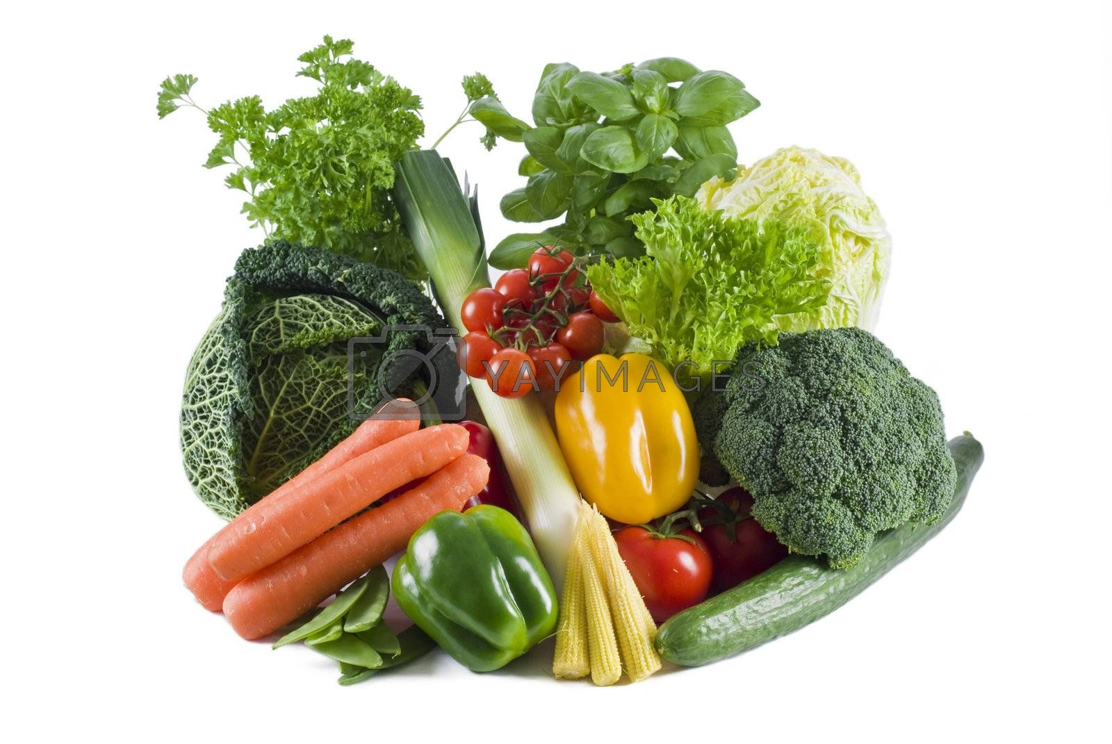 Fresh vegetables by caldix