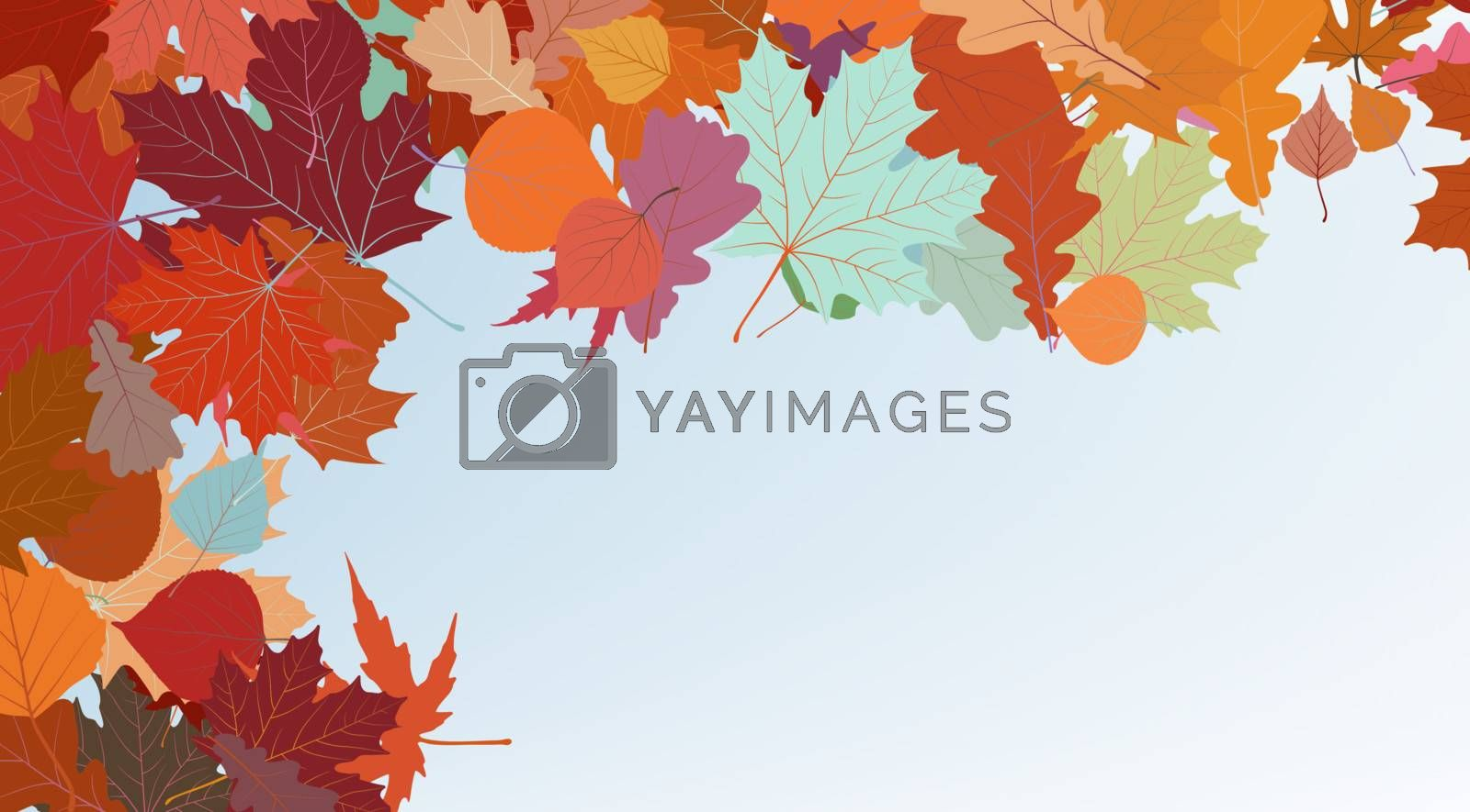 Autumn colorful background. EPS 8 by Petrov_Vladimir