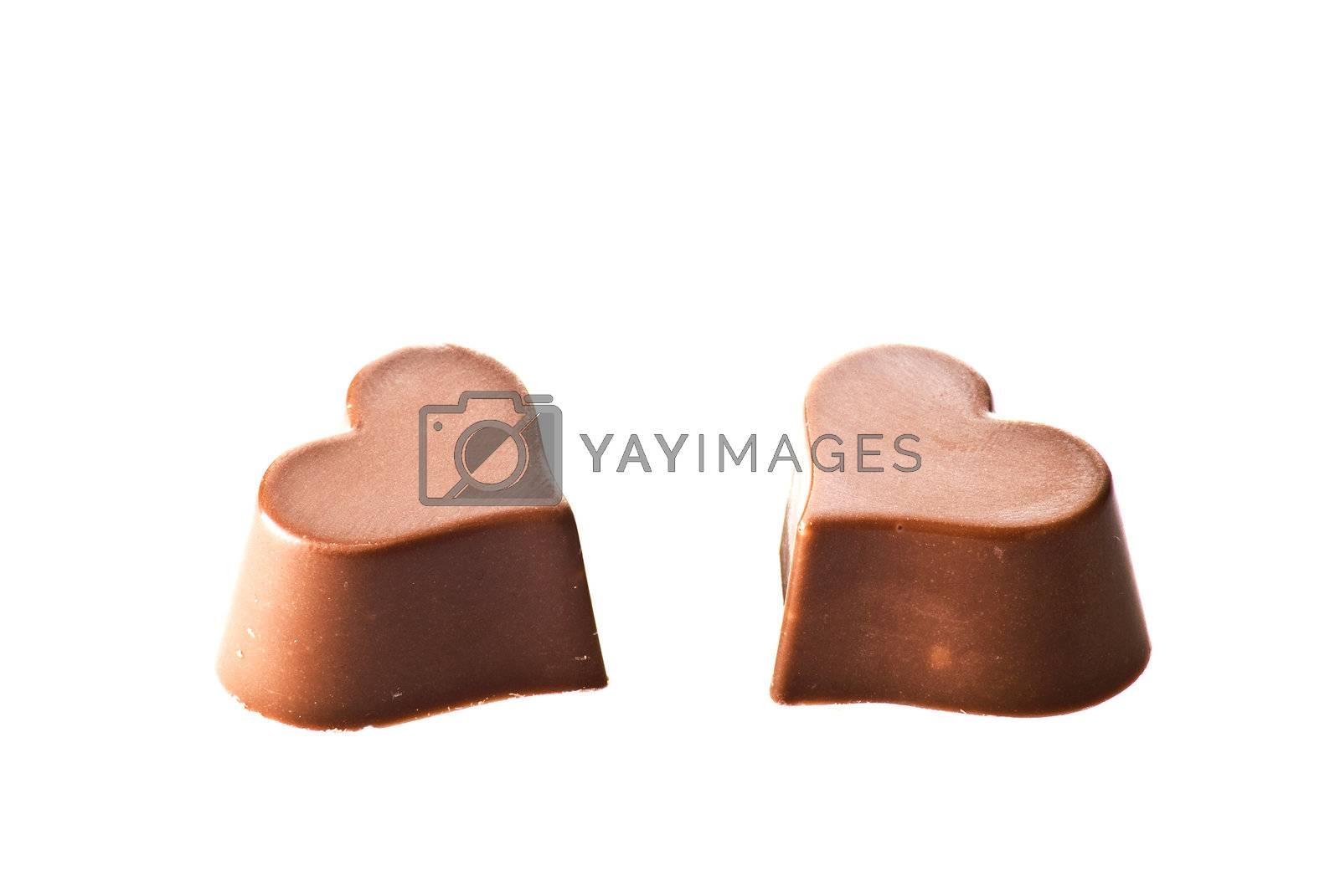 Chocolate hearts by caldix