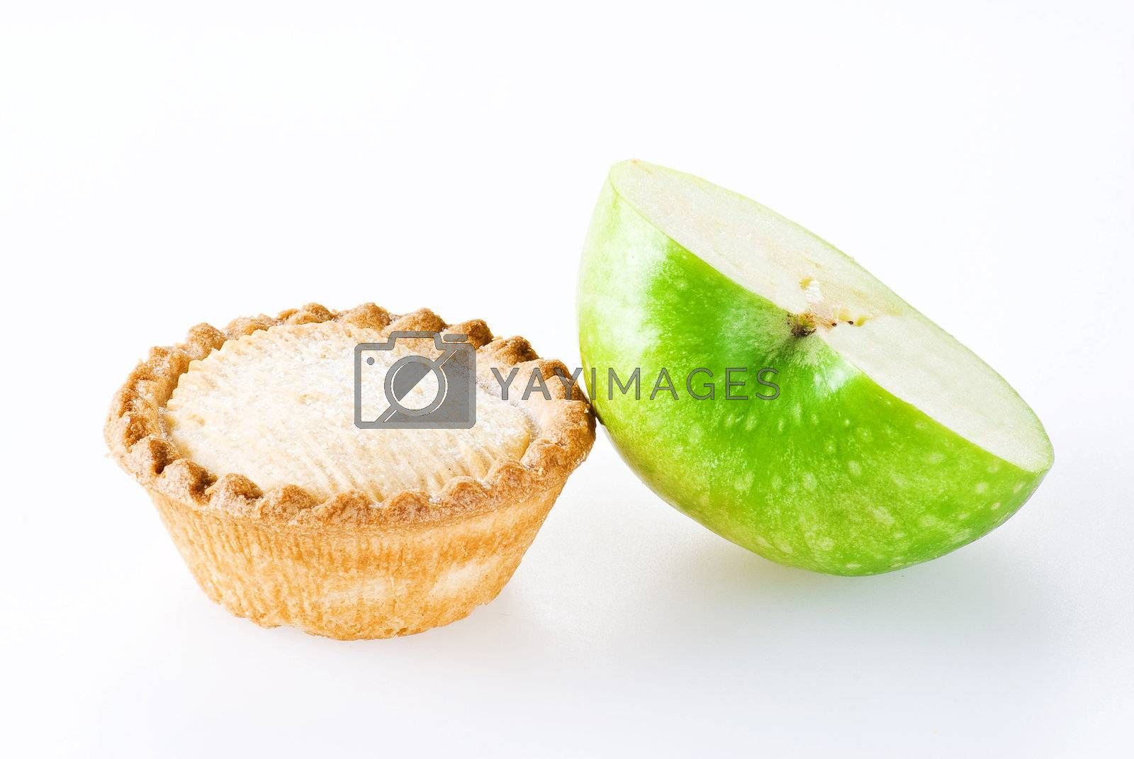 Apple pie and half of apple by caldix