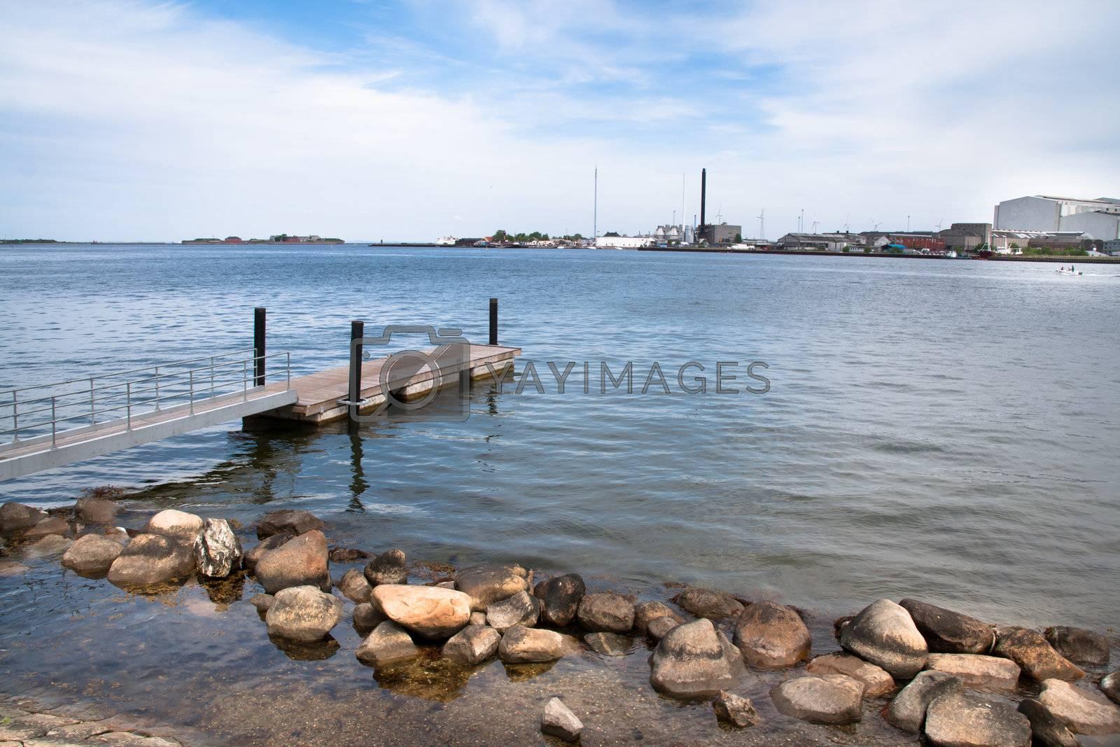 The coast of Copenhagen, Denmark