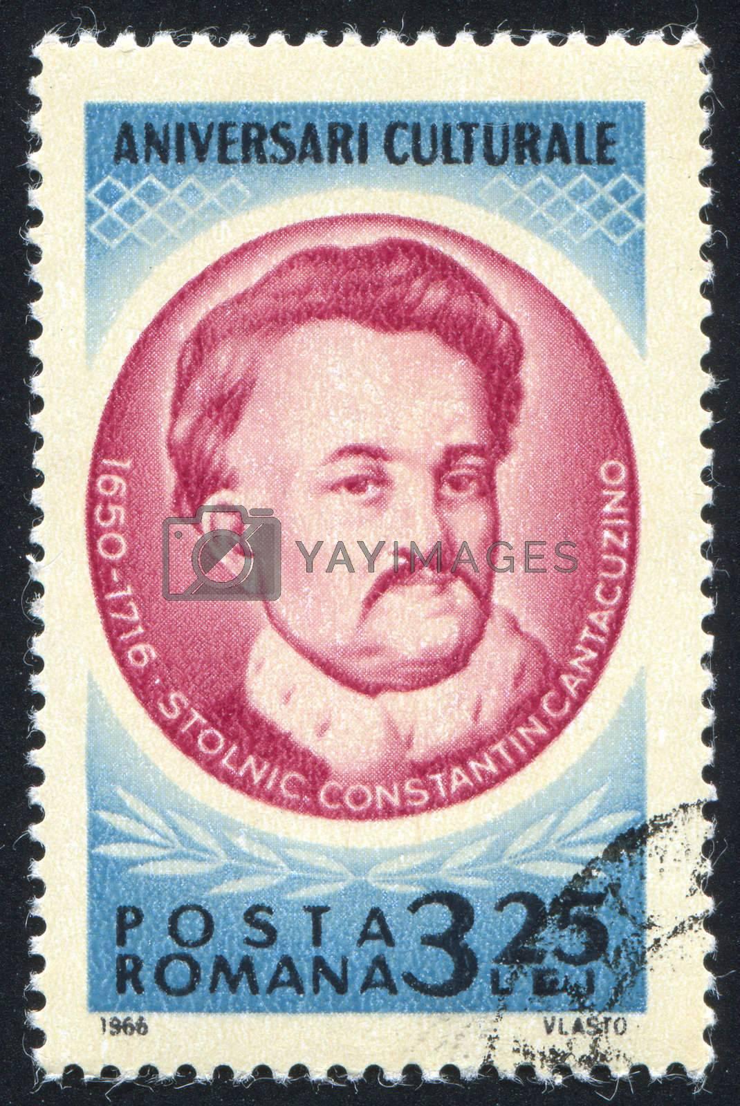 ROMANIA - CIRCA 1966: stamp printed by Romania, show Constantin Cantacuzino, circa 1966.