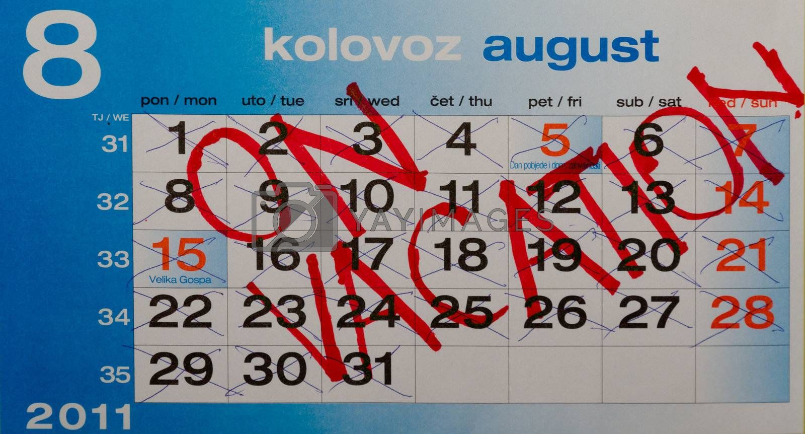 calendar writings