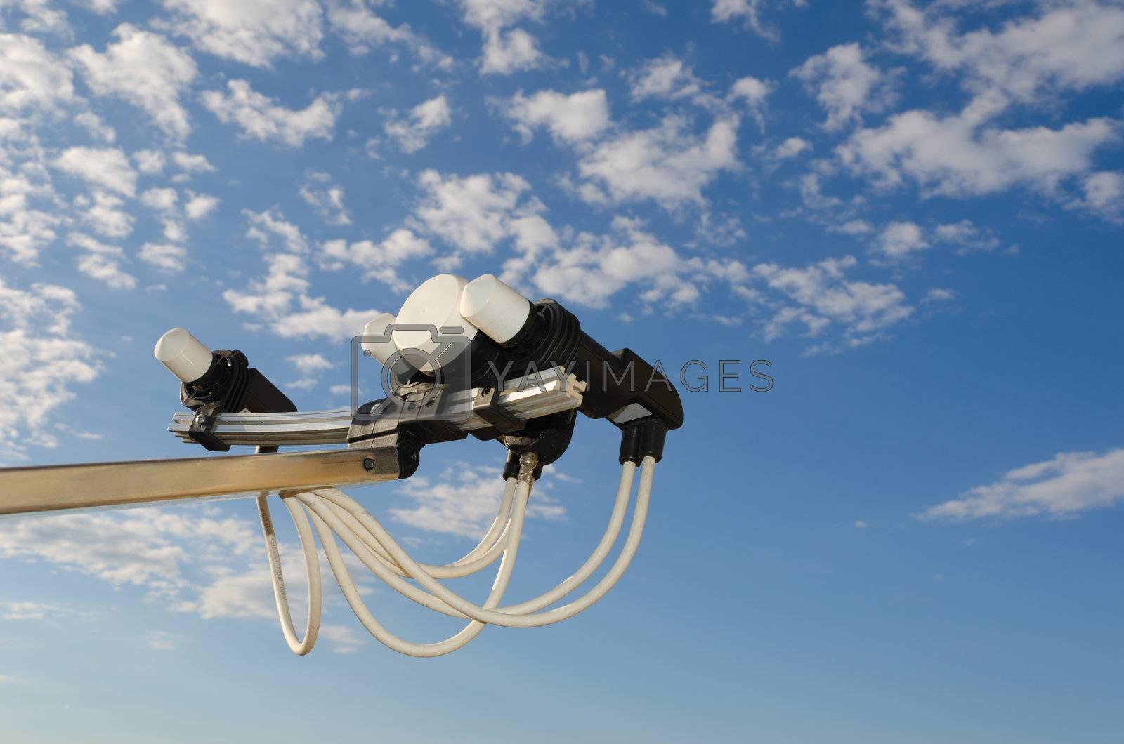antenna transponders faced towards sky