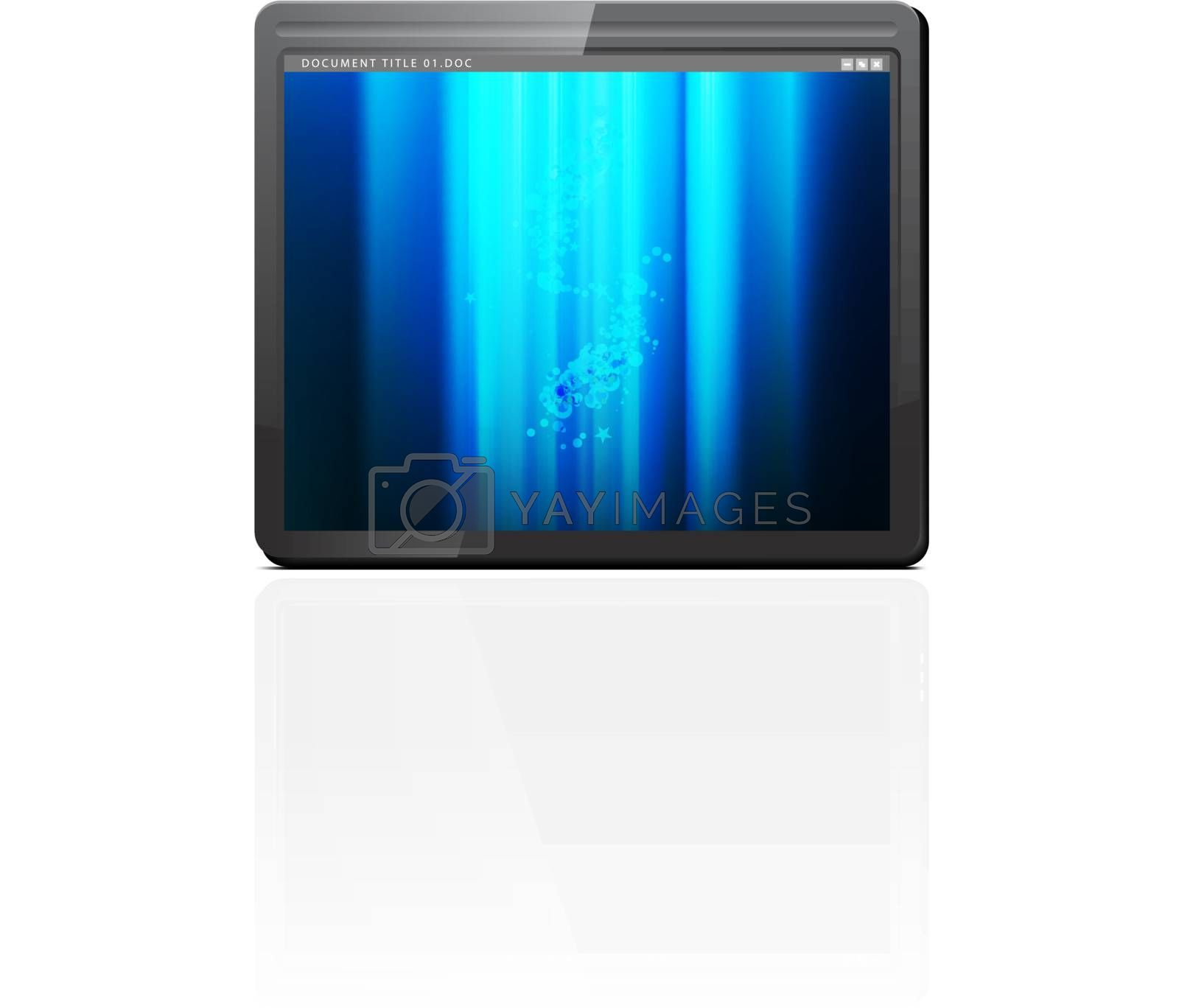 Touchpad or Tablet PC vector illustration on white