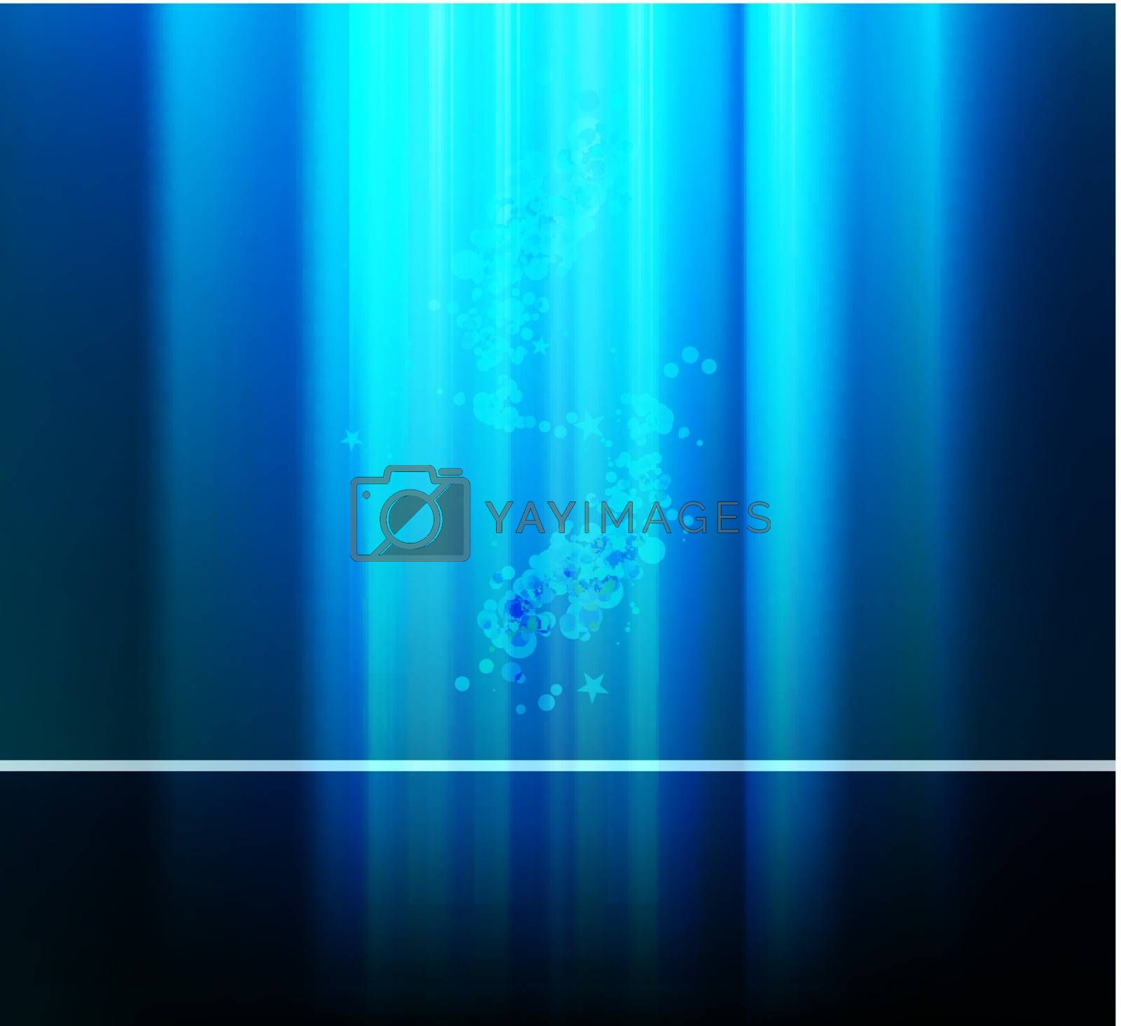 Blue modern abstract vector line magic background