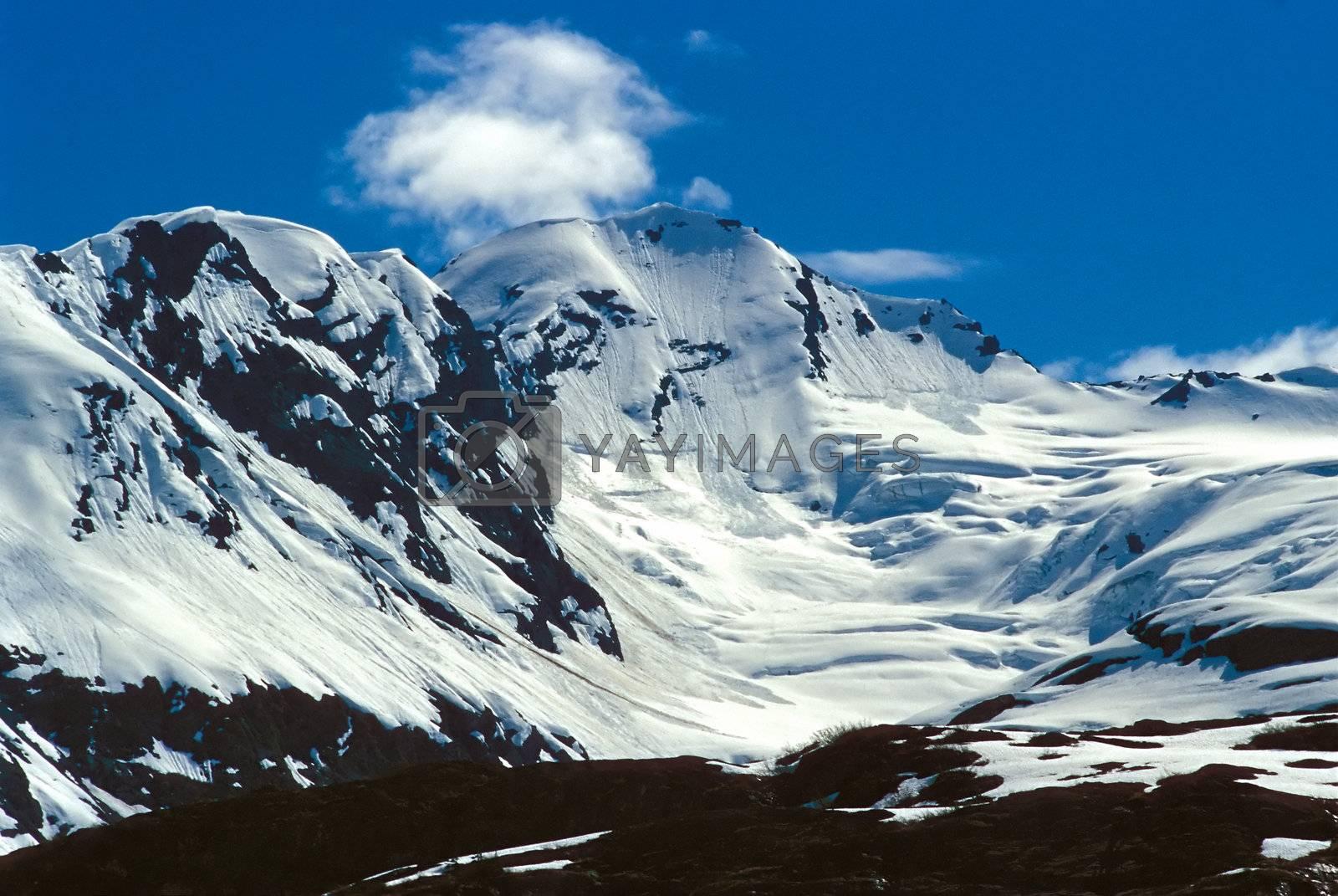 Mountains in SE Alaska, near Valdez.