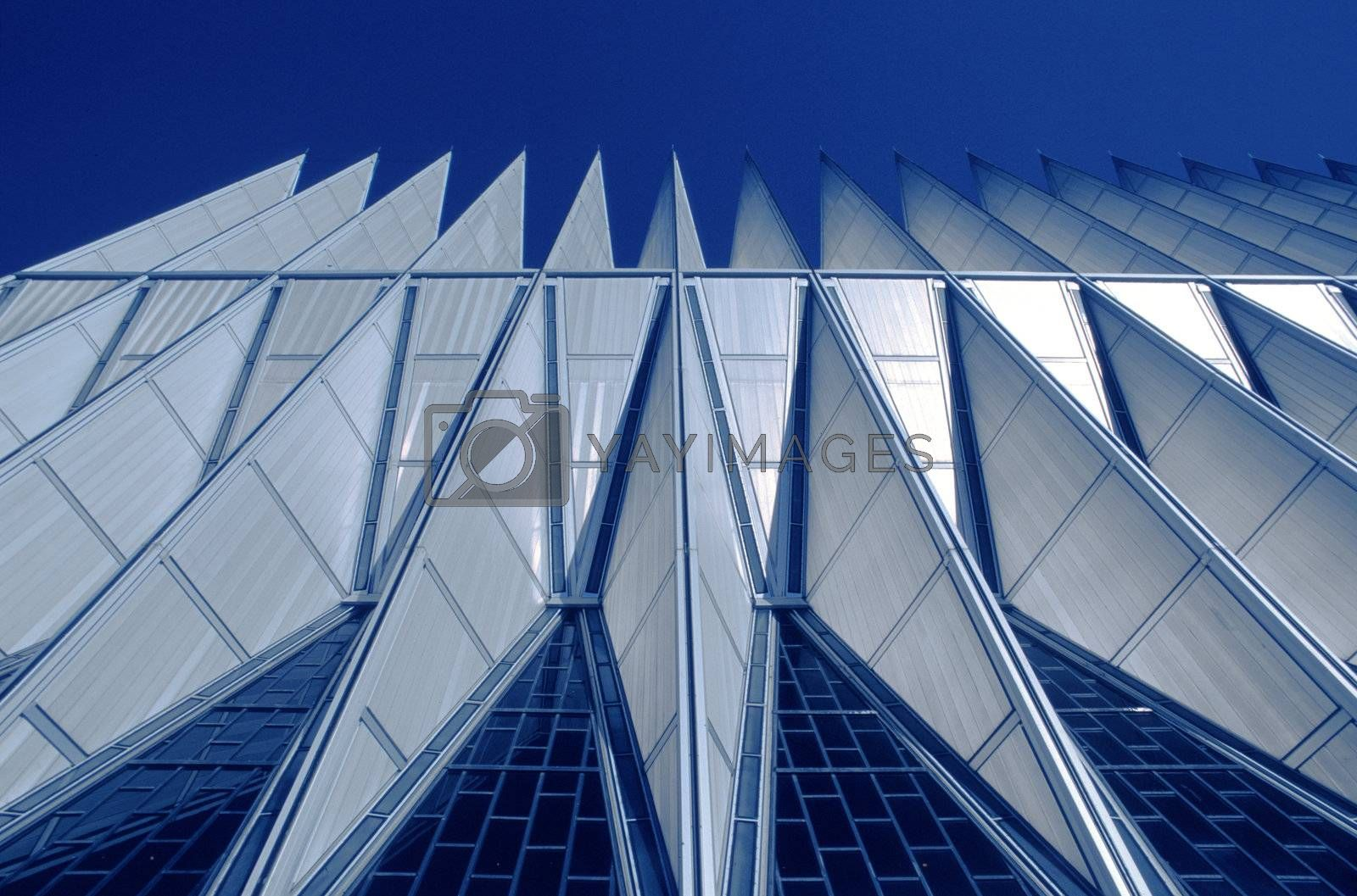 Chapel Detail, at Air Force Academy, Colorado Springs