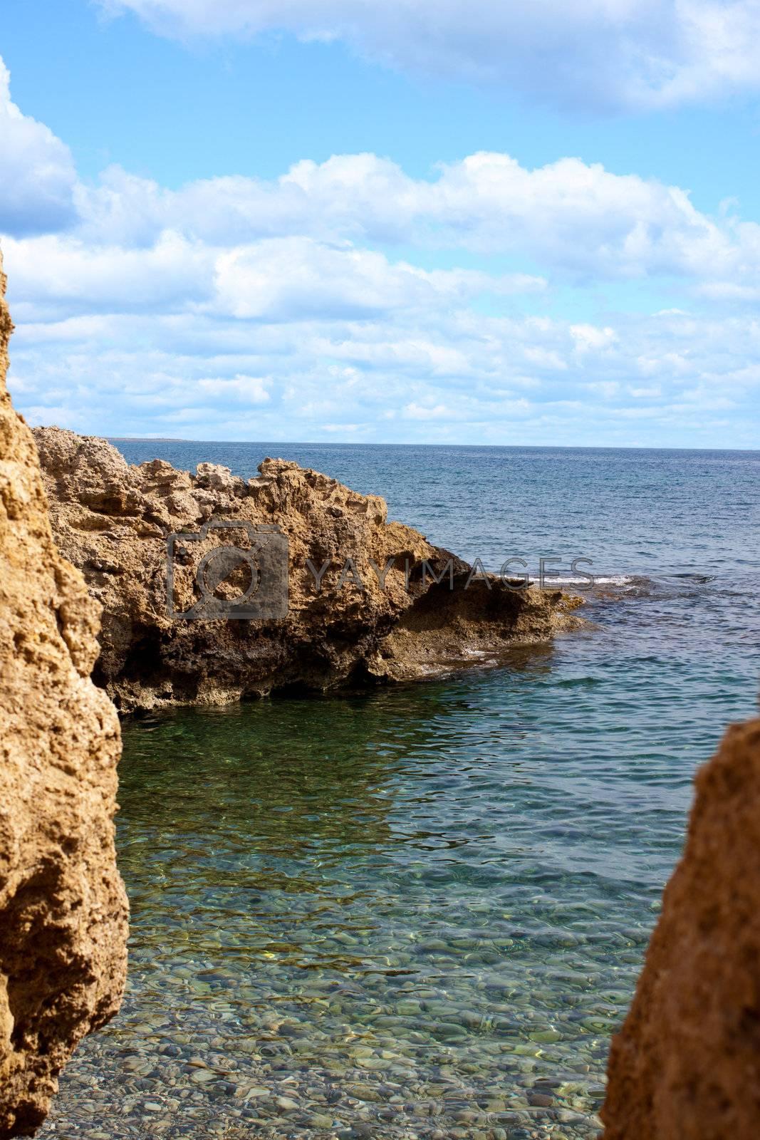 photo bank blue sea under blue sky