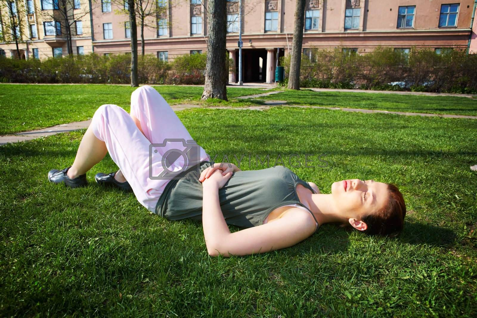 Royalty free image of Teenage Girl Resting by Luminis