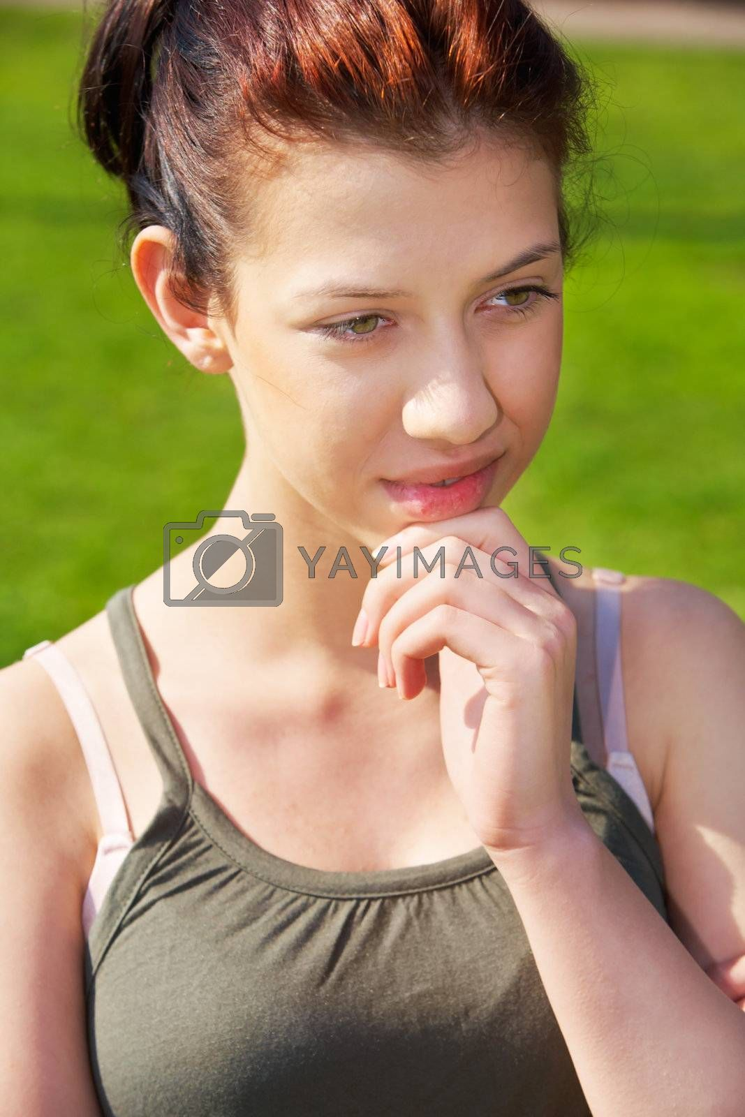 Royalty free image of Teenage Girl Contemplating by Luminis