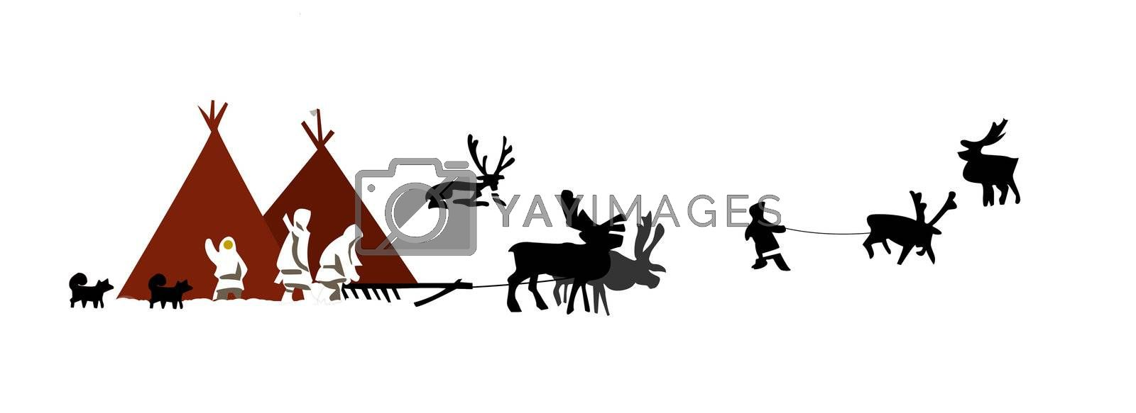 vector  illustration of the people on north by basel101658