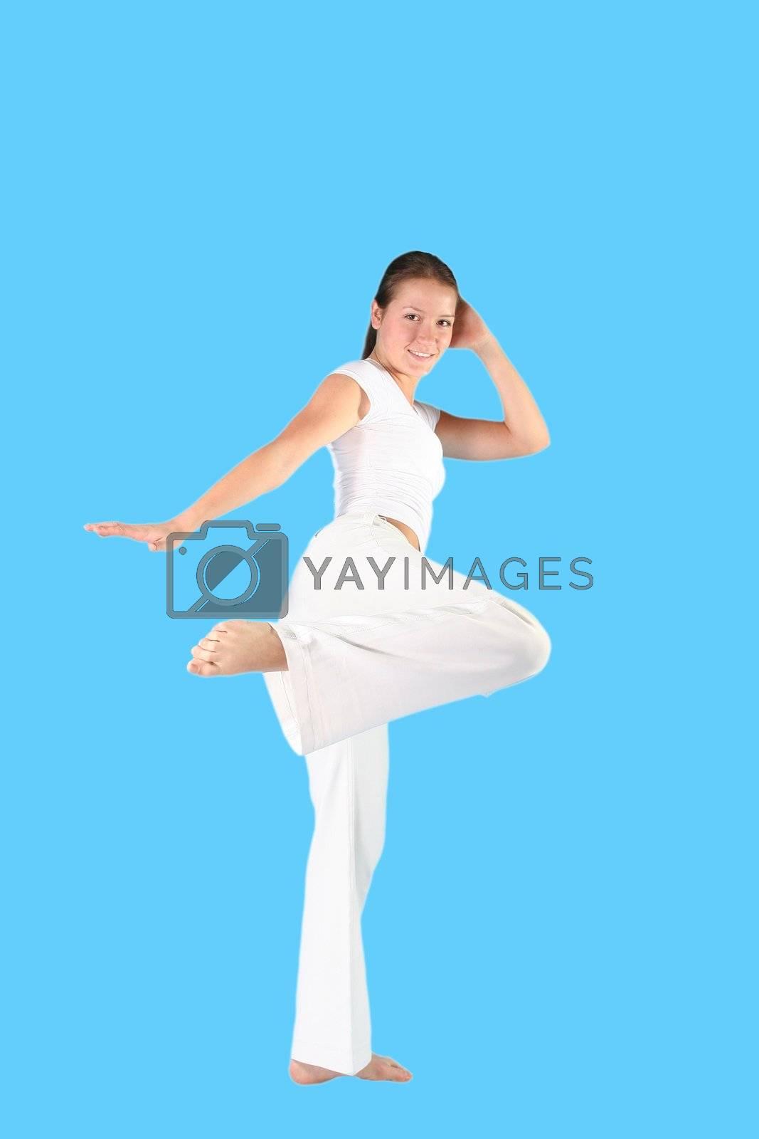 body sports beautiful power fighting woman activity
