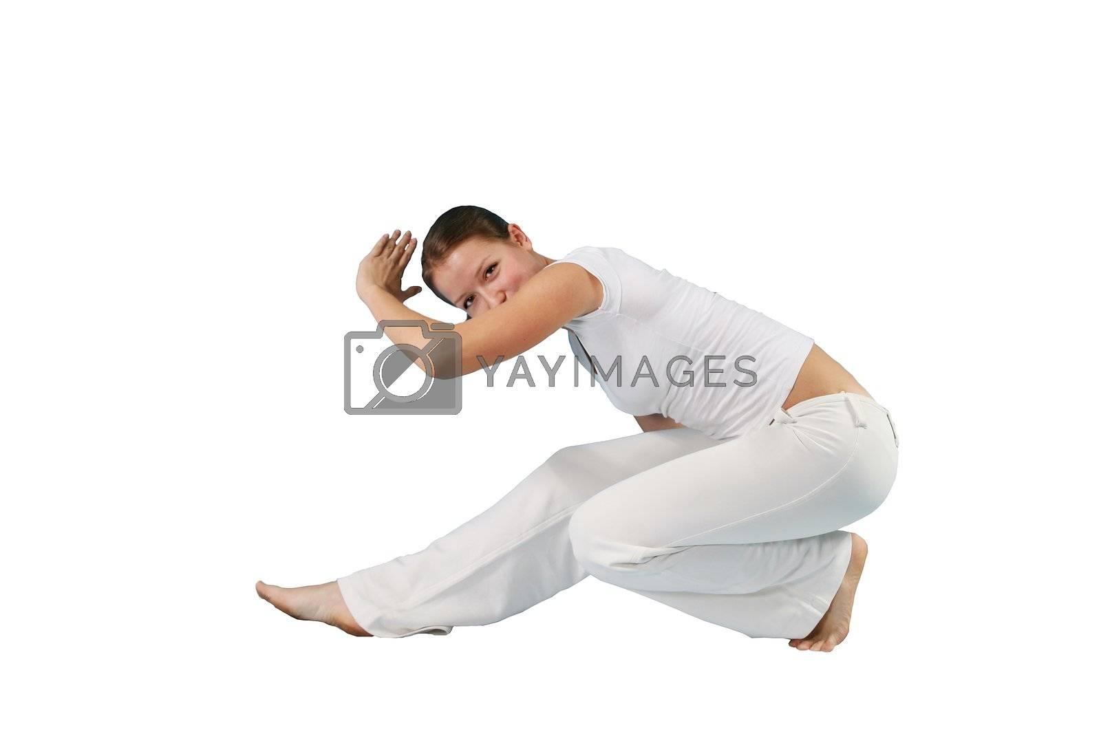 dieting fitness aerobics shape portrait young girls