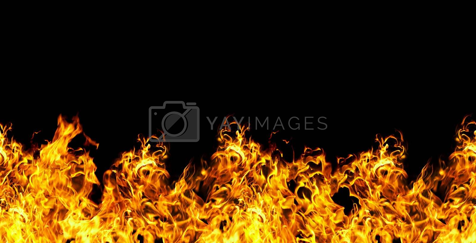 seamless fire  on a black background by cookelma