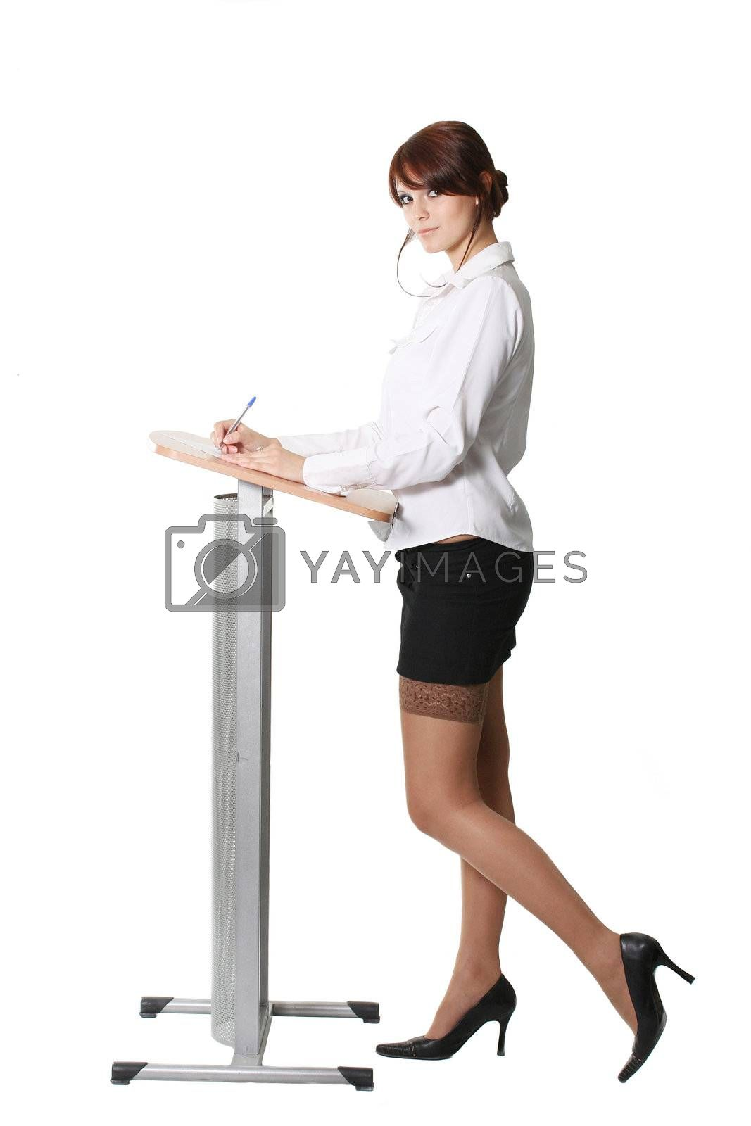 secretary business females women beauty girls attractive