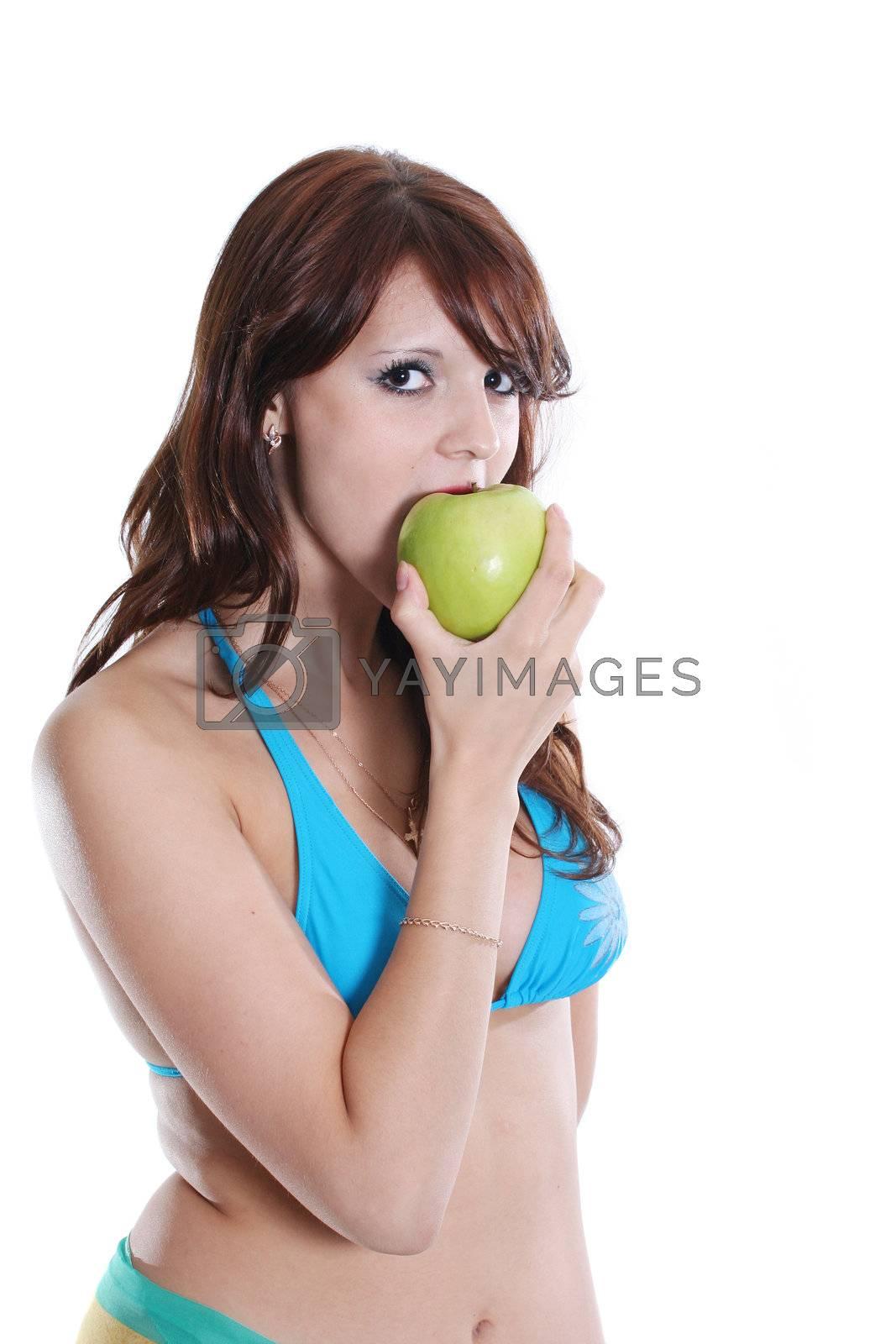 eating human fruits beauty bikini females young