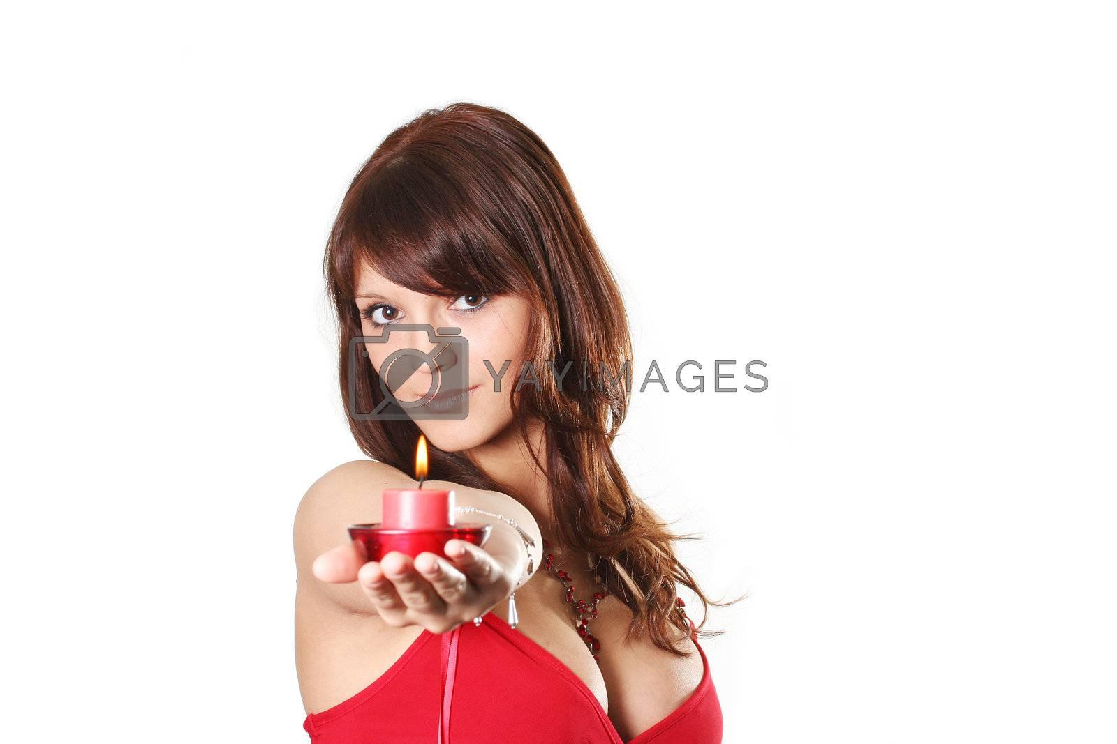 fashion heat candle face hair portrait females