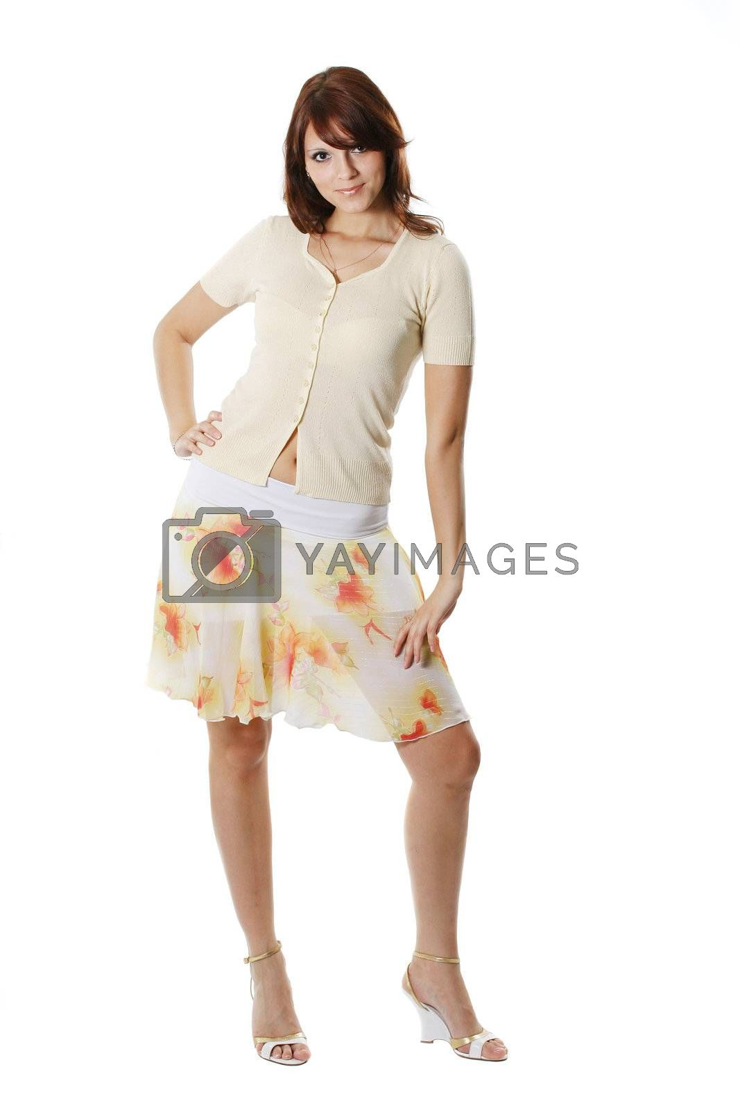 color woman elegance isolated young person beauty