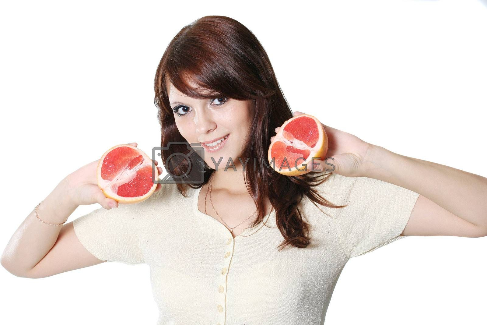 women young person fruit freshness healthcare dieting