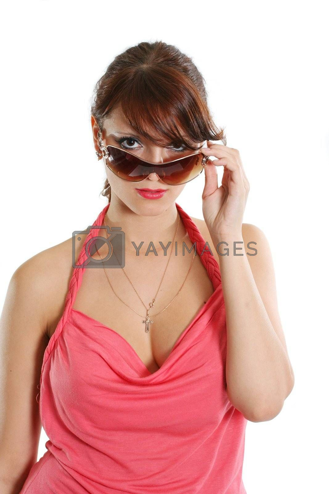 sunglasses adult hair females fashion woman young