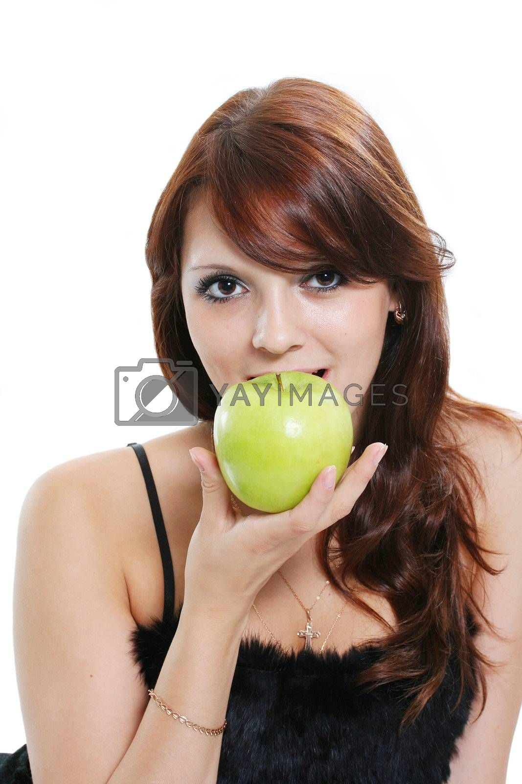 young person beauty fruit beautiful lifestyles eyes