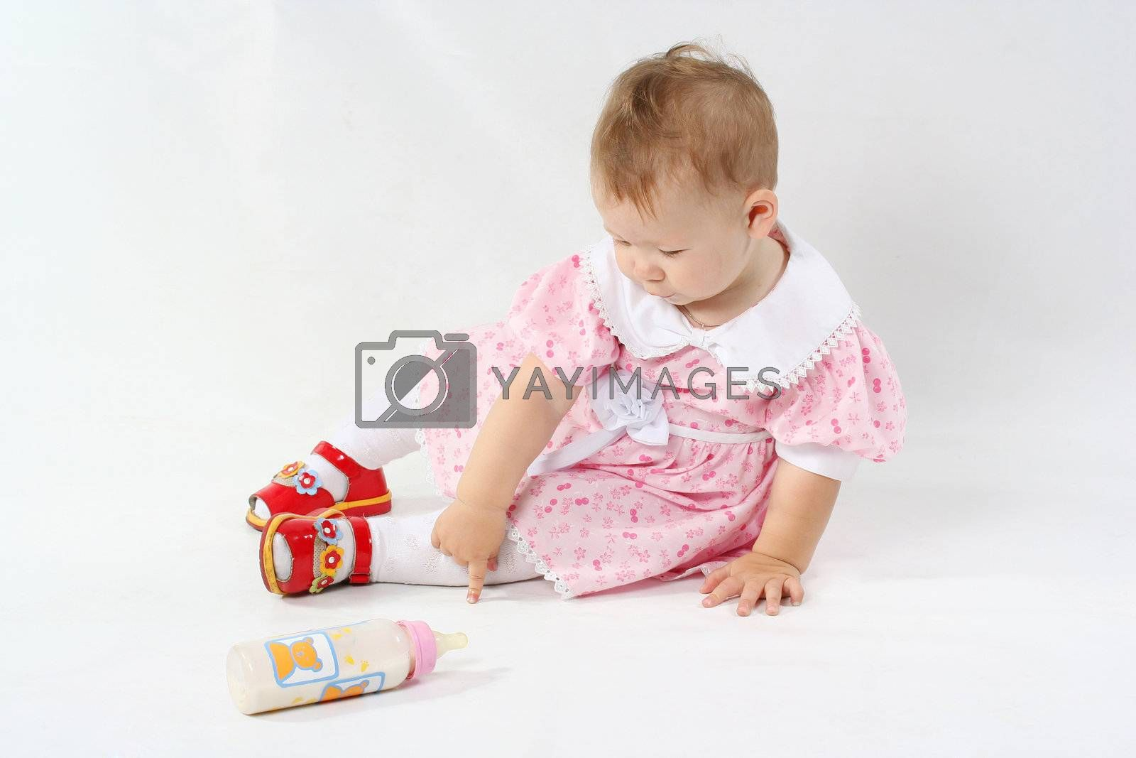 small face child females cute girls baby