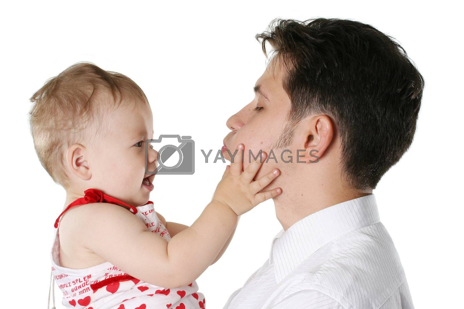 isolated parent male people father child positivity
