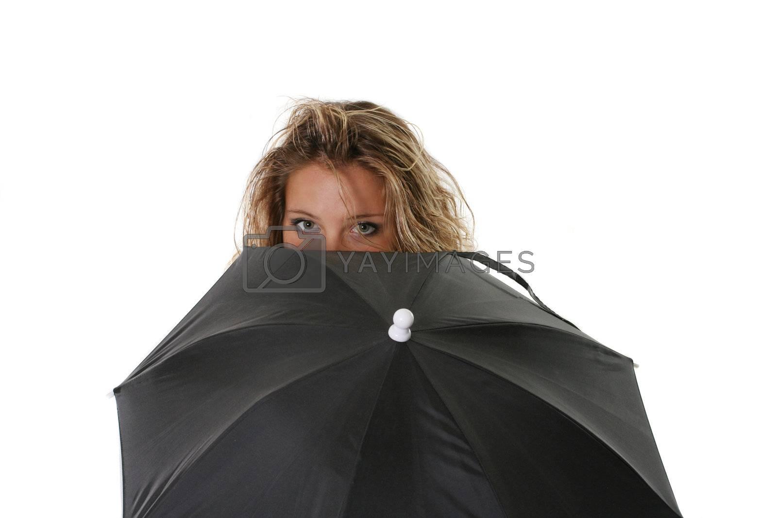 umbrella women one isolated beautiful clothing