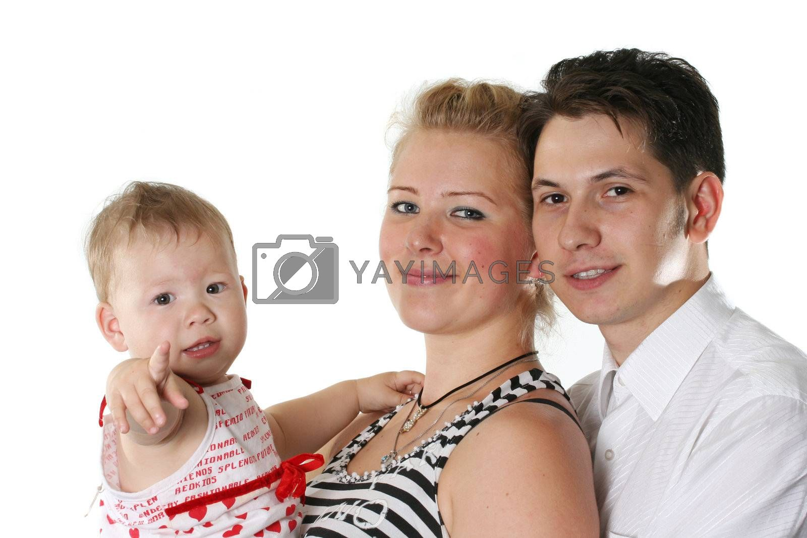 child isolated father cheerful family parent mother