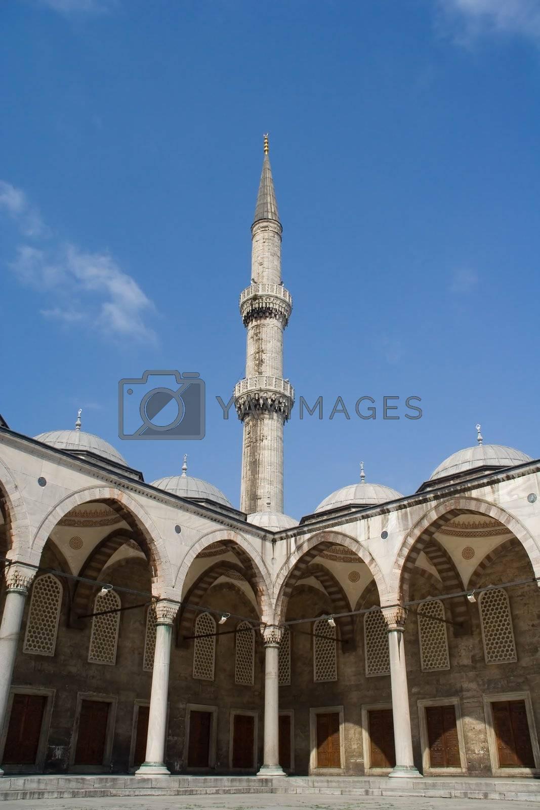 summer blue sky architecture minaret religion exterior