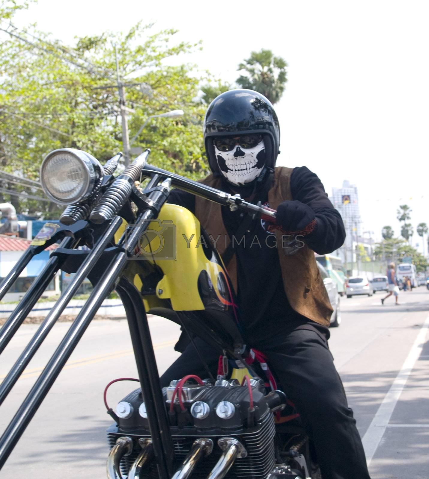 Scary biker by epixx