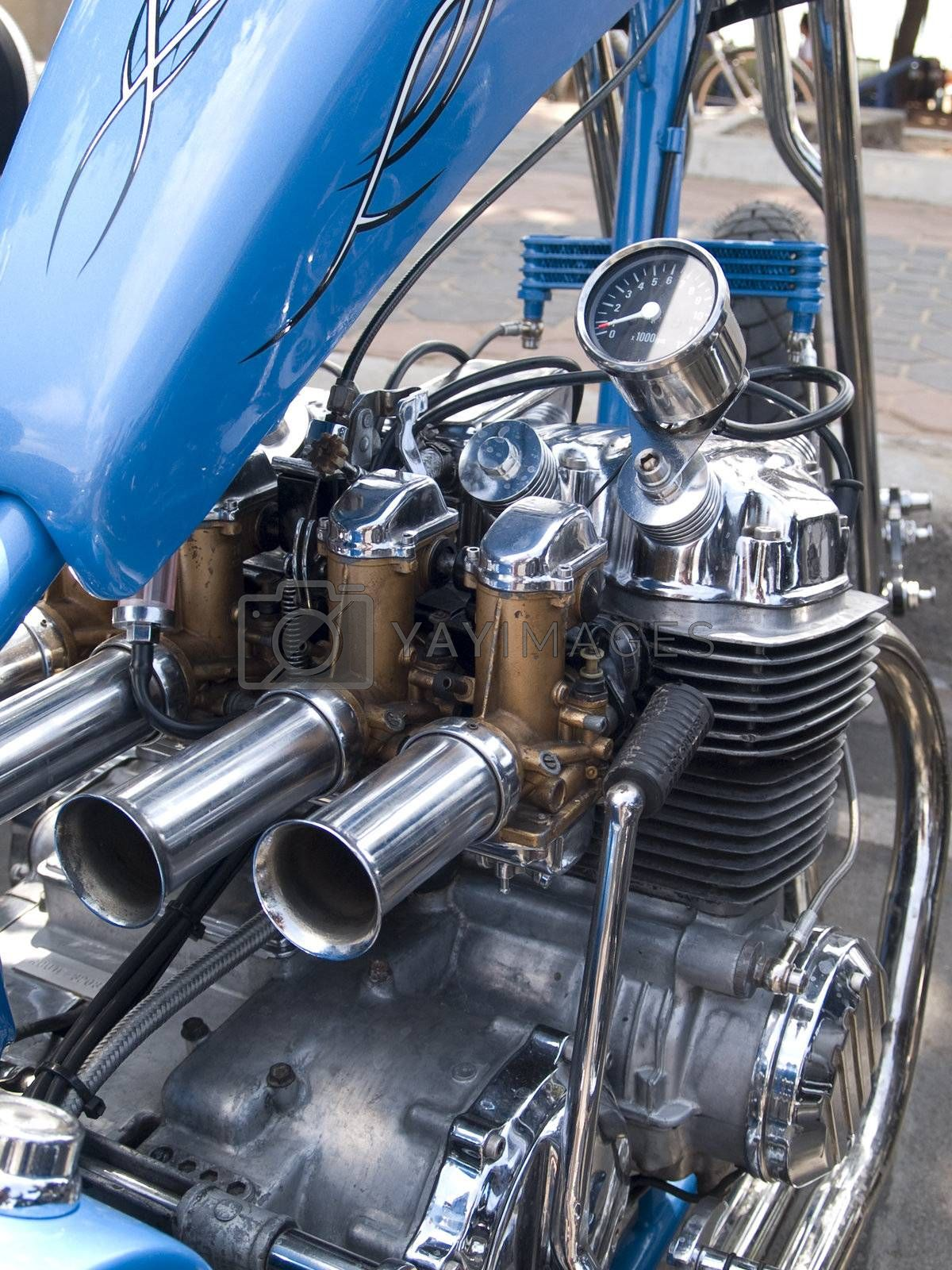 Engine detail of motorcycle by epixx