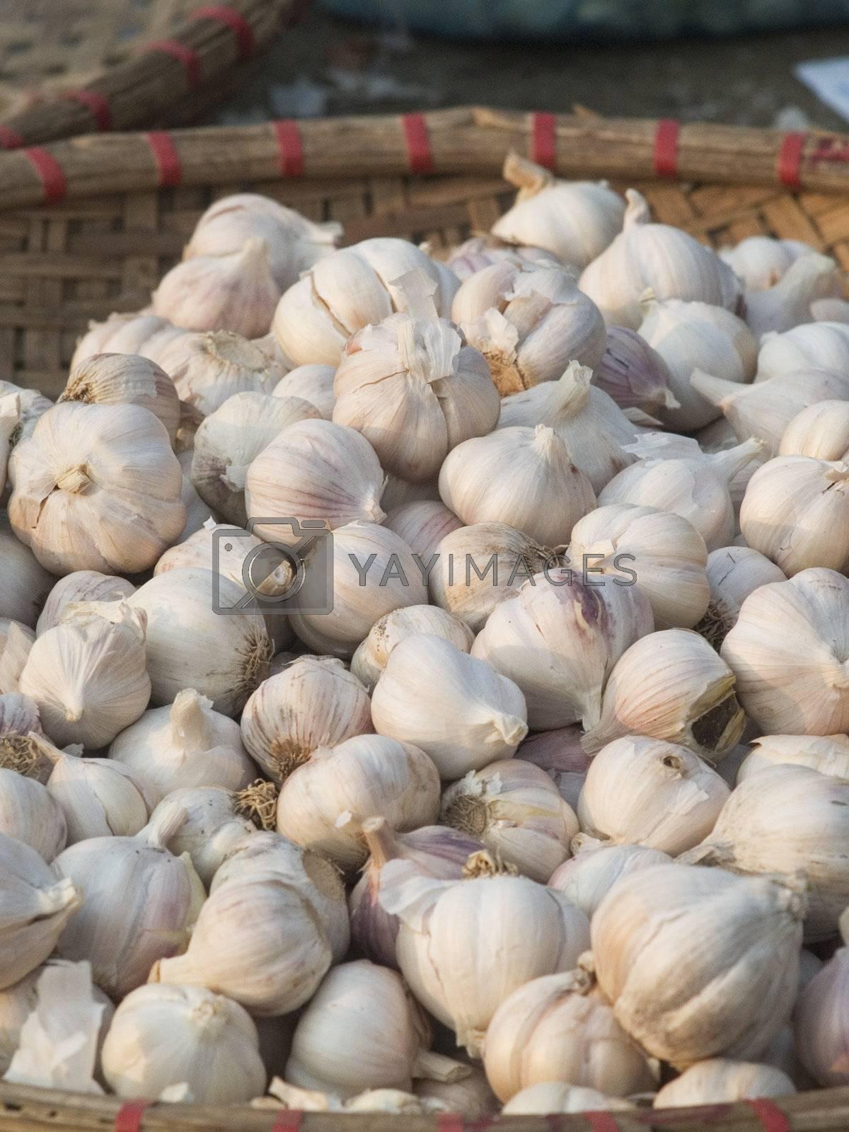 Garlic in a basket by epixx