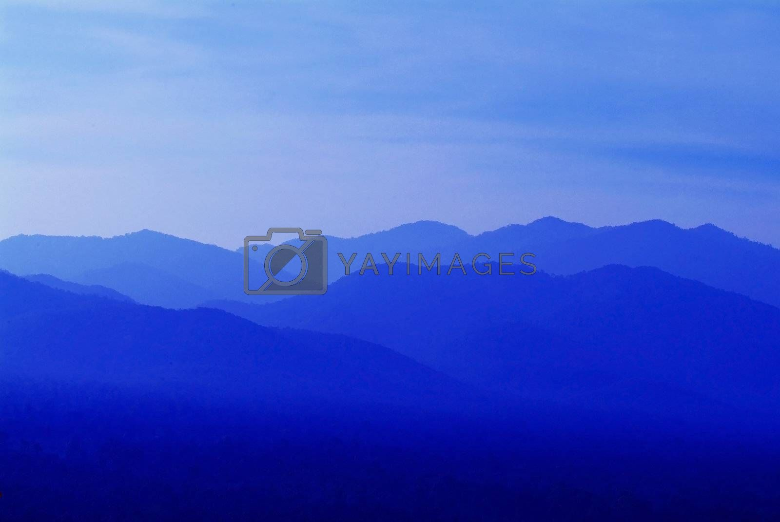 Blue hills abstract by epixx