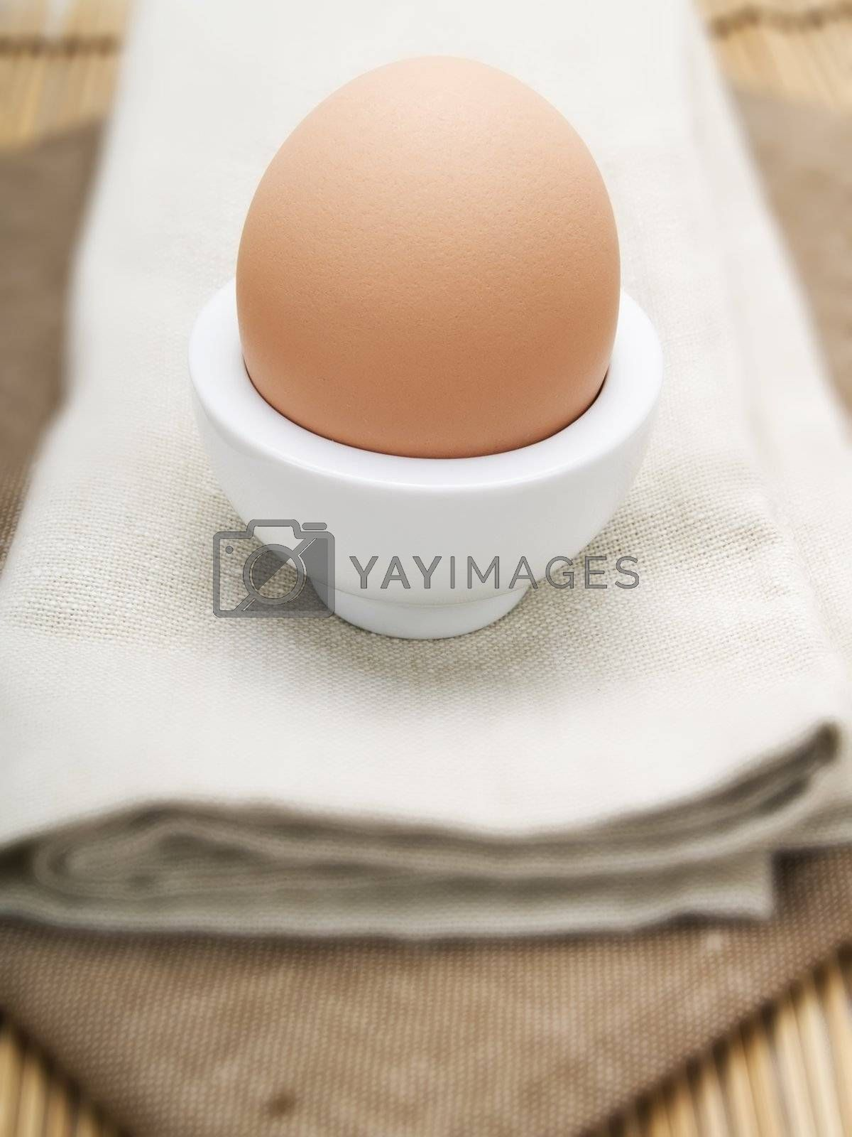 Egg in a white eggcup