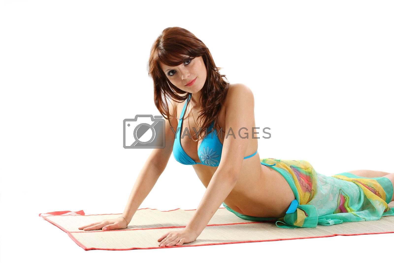 bikini beach body beauty relaxation adult woman