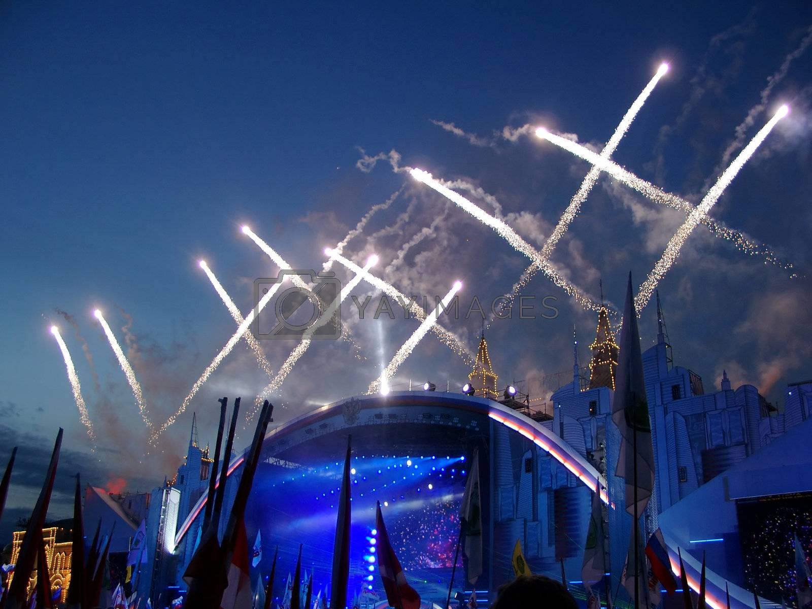 fireworks night celebration traditional rocket party carnival