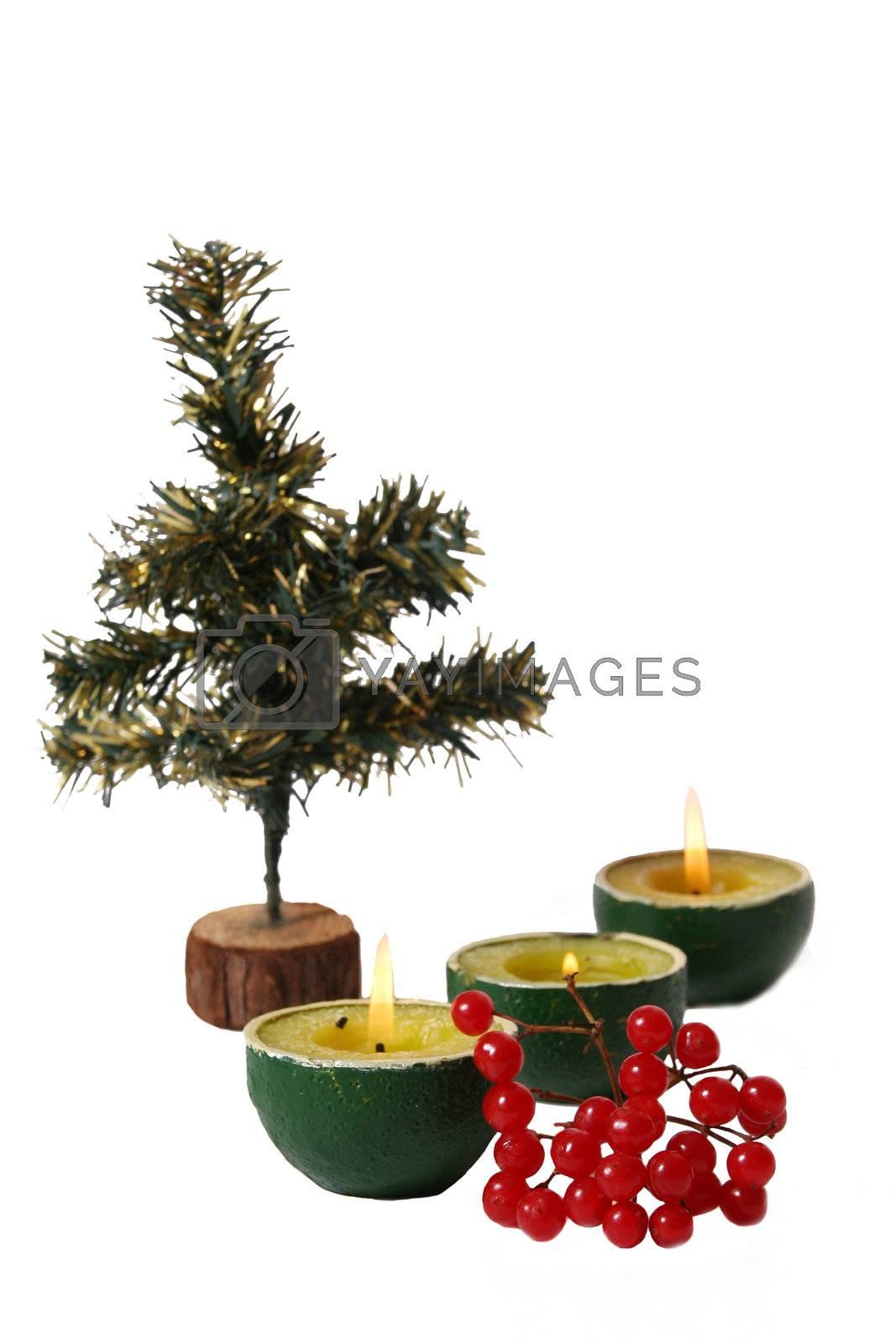 lighting holiday christmas candle illuminated  burning isolated