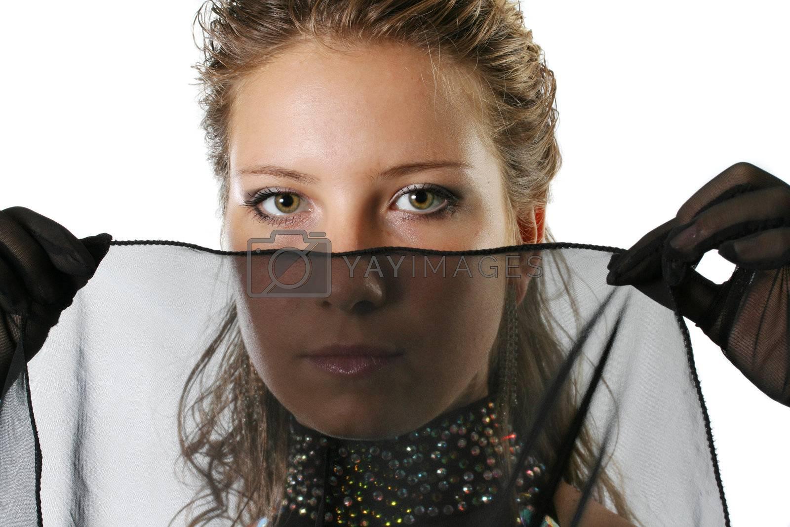 girls beauty face veil portrait beautiful eyes