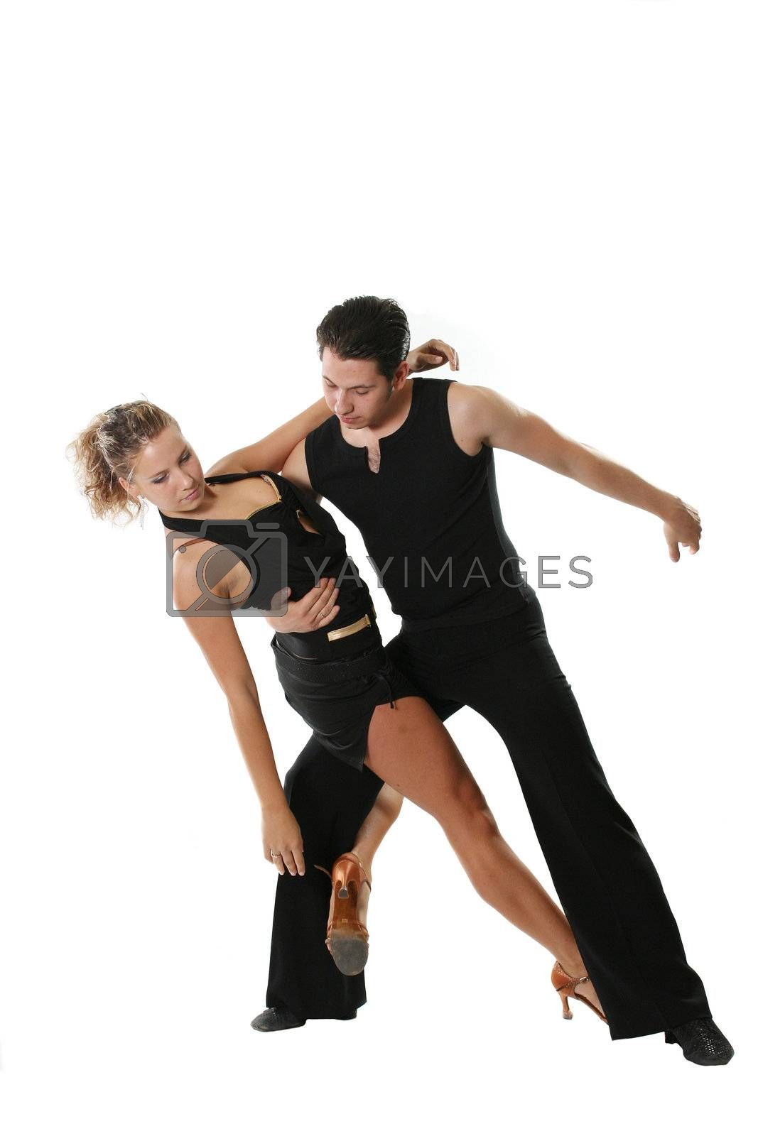 dancer dancing american latin couple beauty isolated
