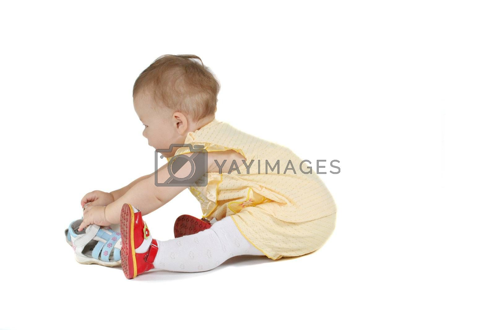 baby small child isolated white happiness cheerful